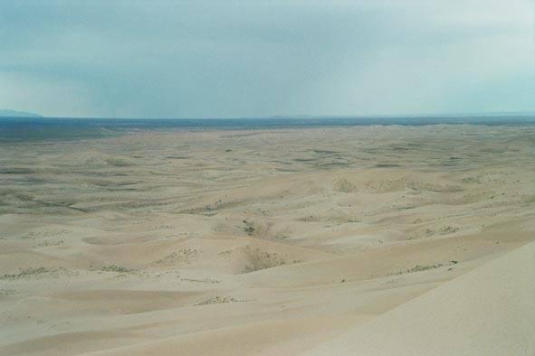 Zdjęcia: Gobi, Widok z wydmy (druga strona), MONGOLIA
