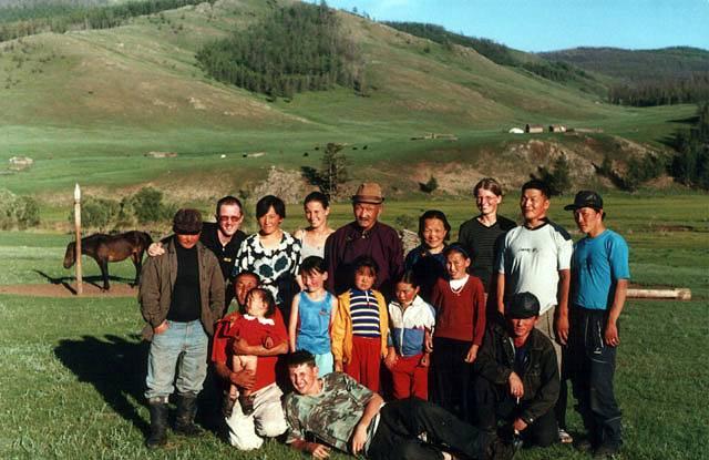 Zdjęcia: Ałtaj, Nasza czwórka i rodzina przewodnika, MONGOLIA