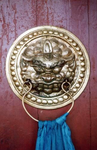 Zdjęcia: Ułan Bator, Brama klasztoru Gandam, MONGOLIA