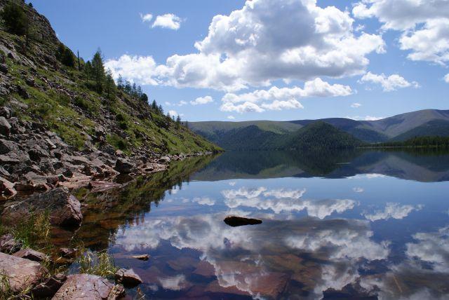 Zdjęcia: Park Siedmiu Jezior, W lustrze wody, MONGOLIA