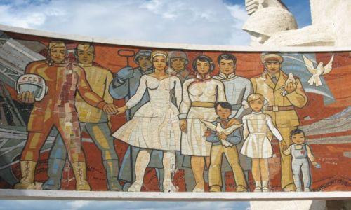 Zdjecie MONGOLIA / - / Okolice Ulan Bator / Socrealistyczna mozika w miejscu pamięci