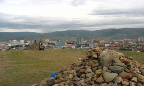 Zdjęcie MONGOLIA / - / Ulan Bator / Panorama miasta stolecznego Ulan Bator