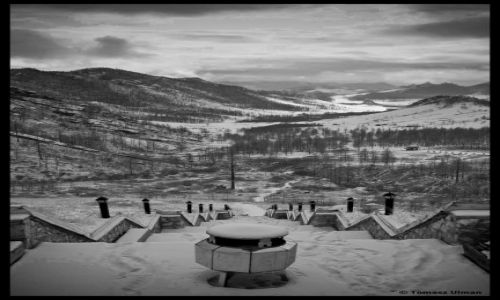 MONGOLIA / UB / Park Narodowy w Tereljli / widok na Park Narodowy w Terelj