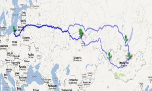 Zdjecie MONGOLIA / mongolia północna / Polska-Litwa - Łotwa - Rosja - Mongolia - Kazachstan - Rosja - Polska / POLAND MONGOLIA TRANS-SIBERIAN EXPEDITION 2014 - aktualna trasa przejazdu