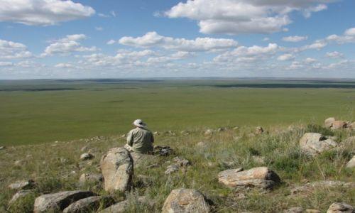 Zdjecie MONGOLIA / dziewicza wschodnia Mongolia / nad rzeką Kerulen / Co za przestrzeń