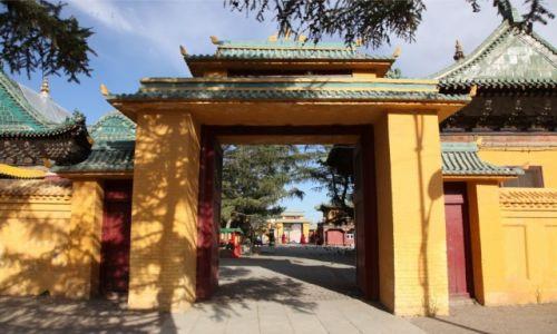 Zdjęcie MONGOLIA / Ułan Bator / Klasztor Gandan / Brama do Klasztoru Gandan