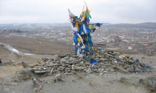 Zdjęcie MONGOLIA / Ułan Bator / Bogdchan uul / Owoo w kontekście