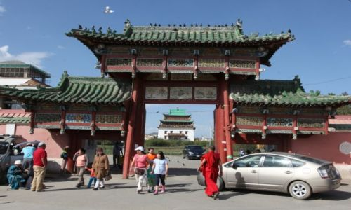 Zdjęcie MONGOLIA /  Ułan Bator / Klasztor Gandan / Brama