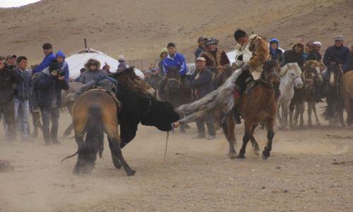 Zdjecie MONGOLIA / Altai / Sagsai / konskie zawody