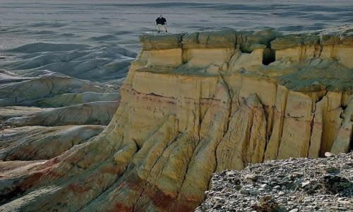 Zdjecie MONGOLIA / Pustynia Gobi /  Klify Tsagaan Suvarga -  na po�udniowy-wsch�d od  Olziyt / Skamienia�e mor