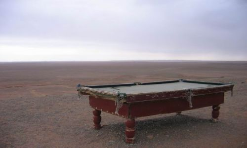 Zdjecie MONGOLIA / pustynia Gobi / Mongolia / Bilard:)