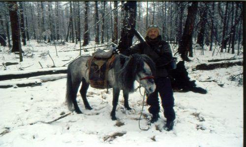 Zdjęcie MONGOLIA / okolice jez.hovsgol / step / mongolskie koniki