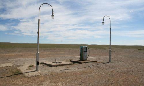 Zdjecie MONGOLIA / Mongolia południowa / brak / Stacja benzynowa