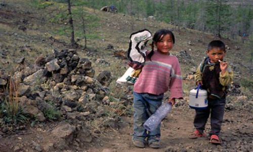 Zdjęcie MONGOLIA /  Mongolia / zachodnia Mongolia / z kumysem na wulkan