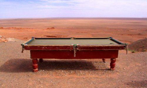 Zdjecie MONGOLIA / Gobi / gdzies na pustyni / poprostu stol