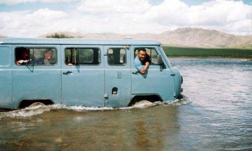 MONGOLIA / brak /  w drodze do  Chatgal / Przeprawa