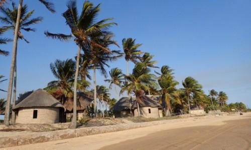 Zdjęcie MOZAMBIK / Poł. - wschodni Mozambik  / Zatoka Tofo / Domki wypoczynkowe w Mozambiku
