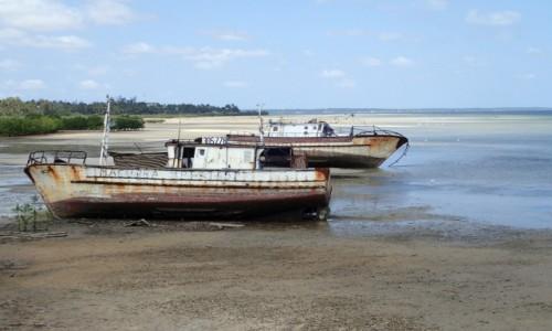 Zdjęcie MOZAMBIK / Poł. - wschodni Mozambik  / Zatoka w mieście Inhambane  / W oczekiwaniu na przypływ