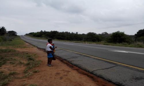 Zdjęcie MOZAMBIK / Południowy Mozambik / Gdzieś po drodze  / Przystanek autobusowy