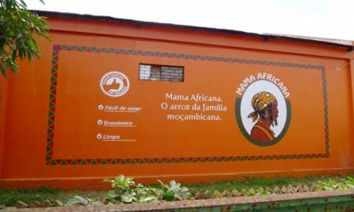 Zdjecie MOZAMBIK / Poł. - wschodni Mozambik  / Miasteczko Inhambane / Ładna reklama ryżu