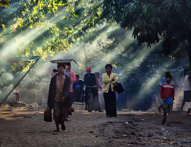 Zdjęcia: Inle Lake, Shan, Birma - w drodze na targ, MYANMAR