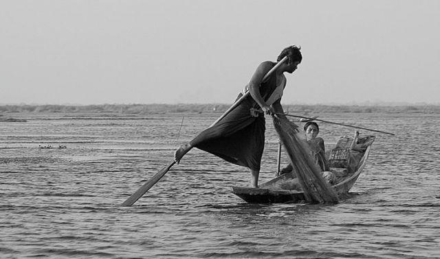 Zdjęcia: Jezioro INLE, Wioślarz, MYANMAR