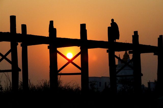 Zdjęcia: most UBein, Myanmar, widok, MYANMAR