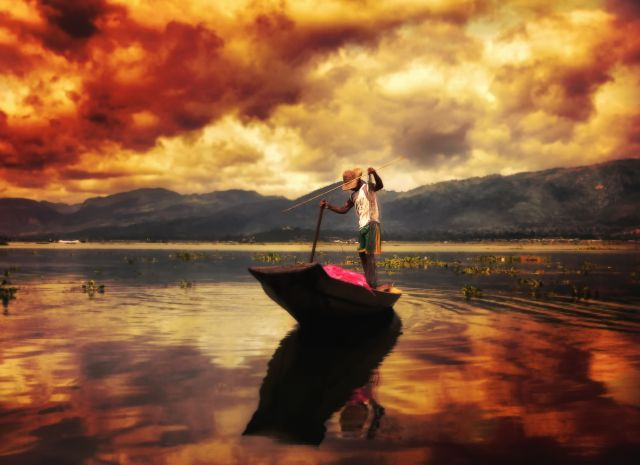 Zdjęcia: Jezioro Inle ( Inle lake ), Prowincja Shan, Rybak Intha, MYANMAR