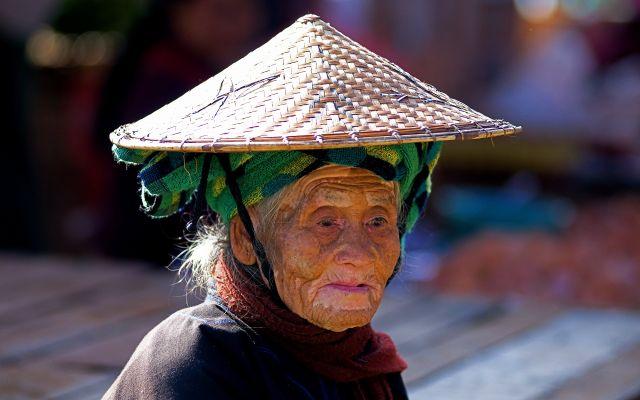 Zdjęcia: Kalaw - targ, Kalaw, na targu, MYANMAR