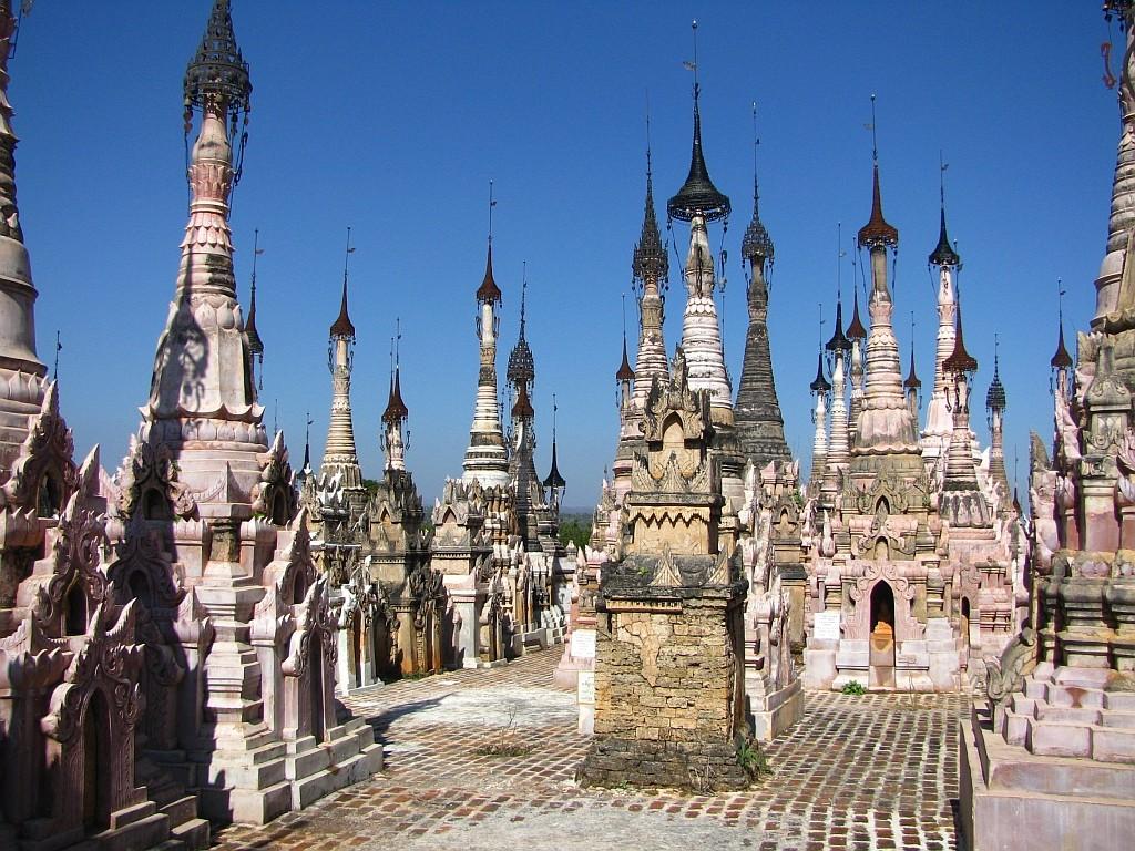 Zdjęcia: Kakku, stan Shan, pagody w Kakku, MYANMAR