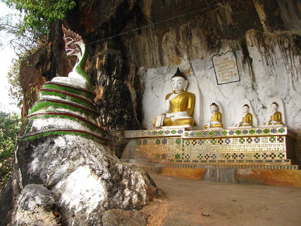 Zdjęcia: okolice jeziora Inle, stan Shan, trekking - grota medytacyjna, MYANMAR