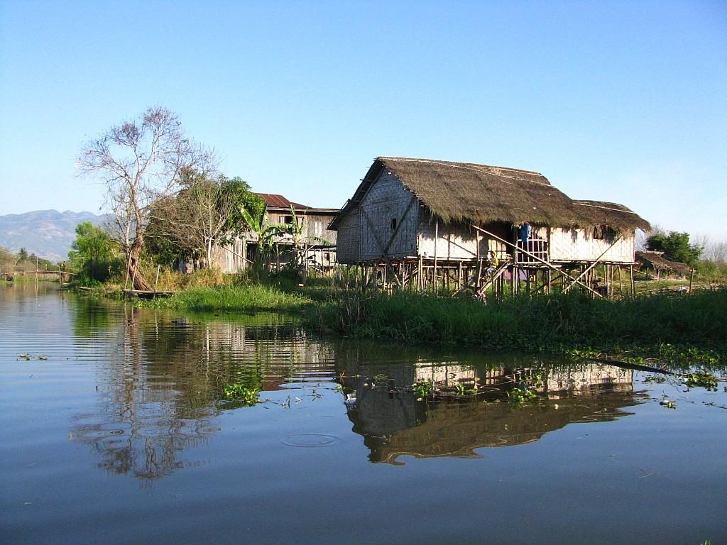 Zdjęcia: okolice jeziora Inle, stan Shan, wycieczka canoe po kanałach, MYANMAR