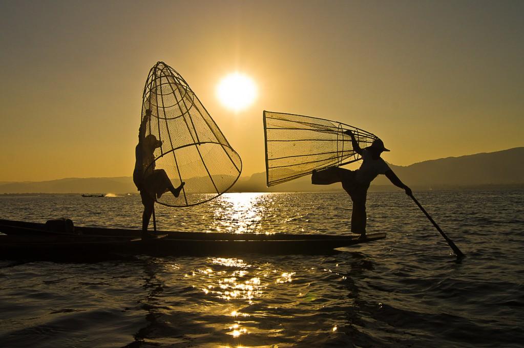 Zdjęcia: tamże, Inle Lake, Rybacy magicy, MYANMAR