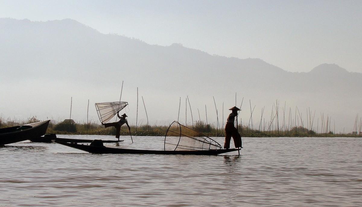 Zdjęcia: Jezioro Inle, Rybacy, MYANMAR