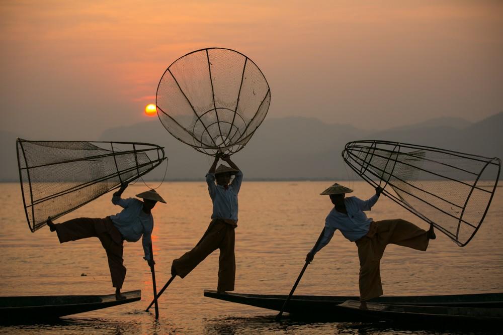 Zdjęcia: Inle Lake, Taunggyi, łowcy światła, MYANMAR