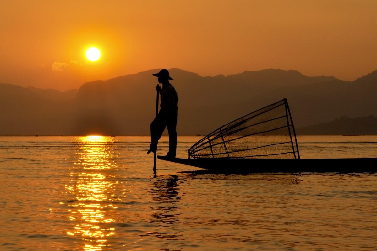 Zdjęcia: Inle Lake, Stan Szan, Wspomnienie dnia, MYANMAR