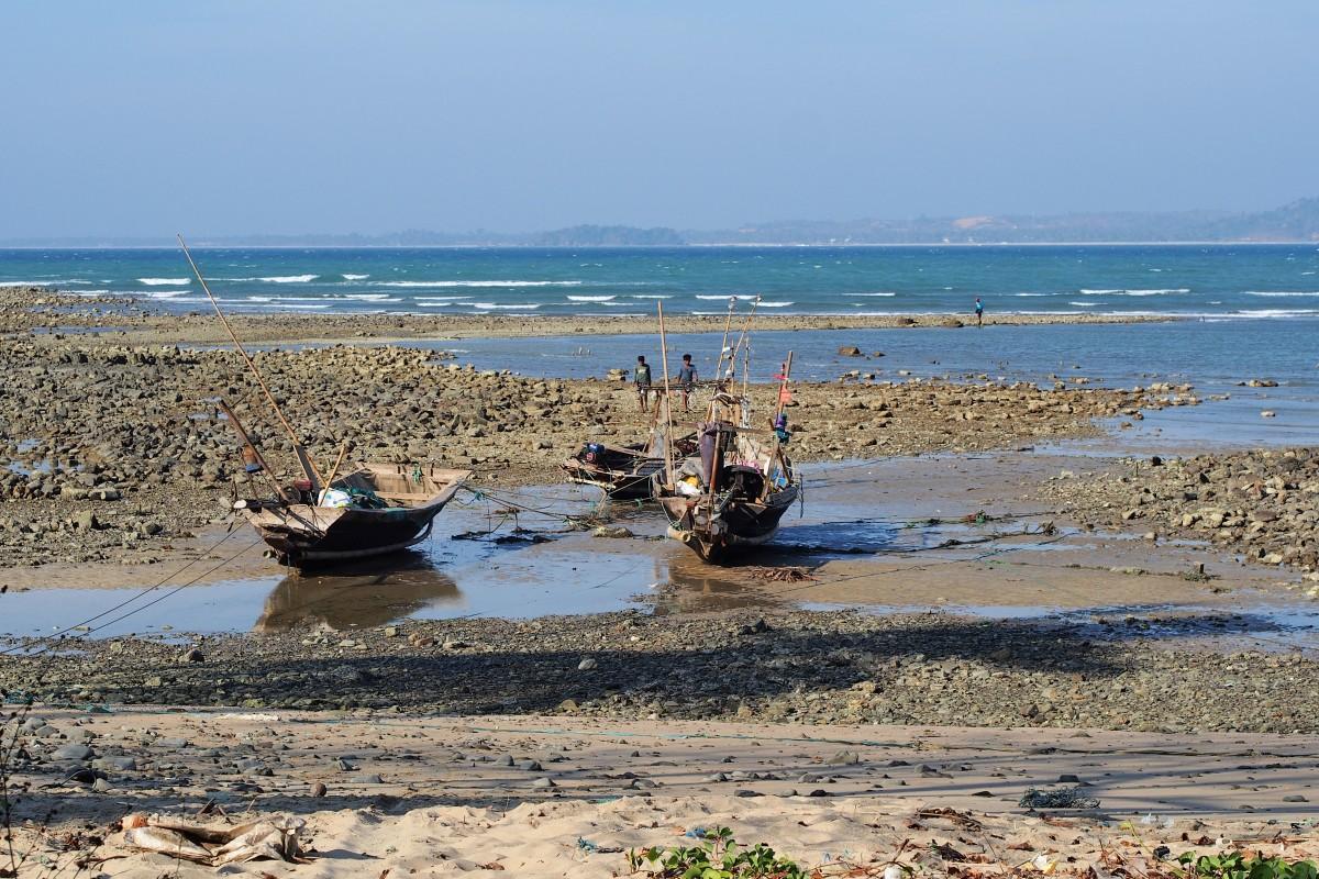 Zdjęcia: Ngwe Saung, zatoka bengalska, kutry, MYANMAR
