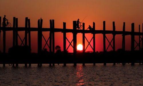 Zdjęcie MYANMAR / Mandalay / Amarapura / mostek...