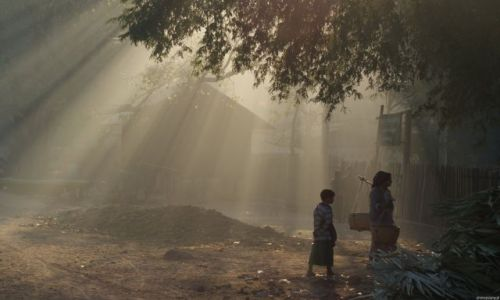 Zdjecie MYANMAR / Ran Gun / wioska / Poranek w małej wiosce