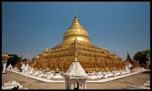 MYANMAR / Mandalay / Bagan / Shwezigon Paya - wzór dla innych świątyń