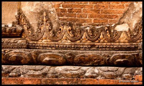 MYANMAR / Mandalay / Bagan / piękny detal na jednej ze świątyń