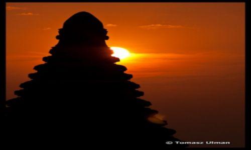 Zdjecie MYANMAR / Mandalay / Bagan / wsch�d s�o�ca w