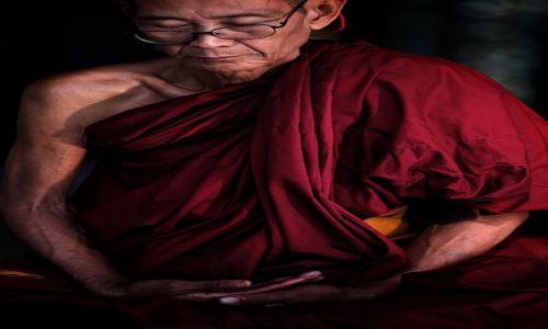 MYANMAR / Yangoon / Shwedogon / Mnich