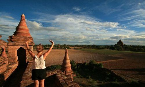 MYANMAR / - / Bagan / krajobraz w bagan
