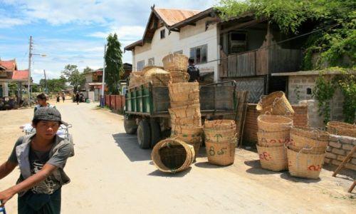 Zdjecie MYANMAR / - / Jezioro Inle / sprzedaż koszy