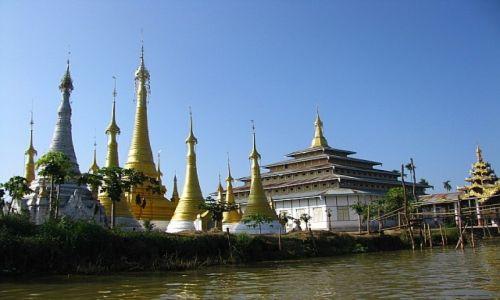 Zdjecie MYANMAR / stan Shan / jezioro Inle / klasztor w wiosce Ywama