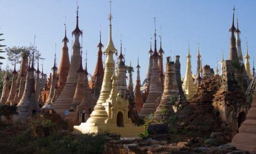 Zdjecie MYANMAR / Jezioro Inle / InDein village / Las stup