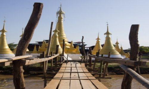 Zdjecie MYANMAR / Jezioro Inle / Ywama village / Bardzo poważny most o znaczeniu strategicznym