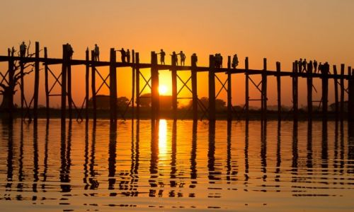 Zdjecie MYANMAR / okolica Mandalay / jak w tytule / U Bein bridge