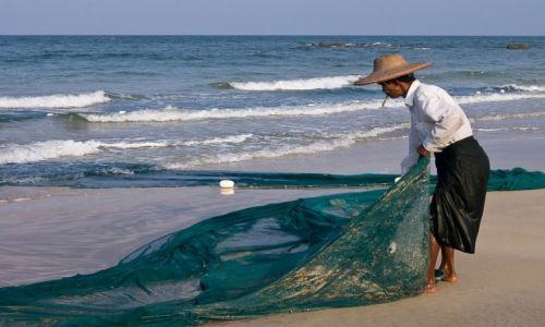 MYANMAR / Ngwe Saung Beach / j.w. / porządkowanie sieci